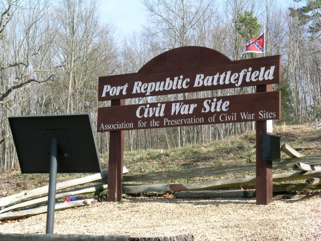 Battle of Port Republic sign - 2